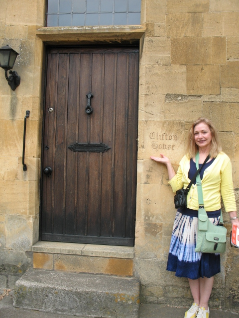 Ancestoral Door in England. Do I look like a tourist or what?