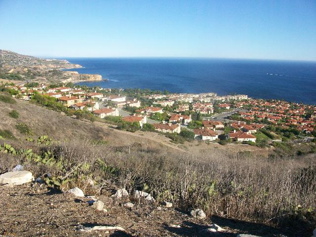 View of homes along the Palos Verdes coastline.