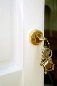 Door with keys