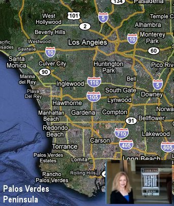 Map of Palos Verdes Location in Los Angeles