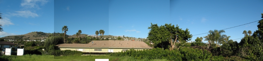 Warmouth Lot - View of the Palos Verdes Hills