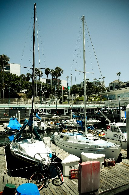 The marina in Redondo Beach