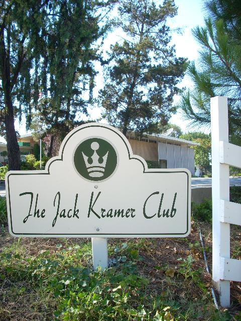 Jack Kramer Club sign tennis swimming pool