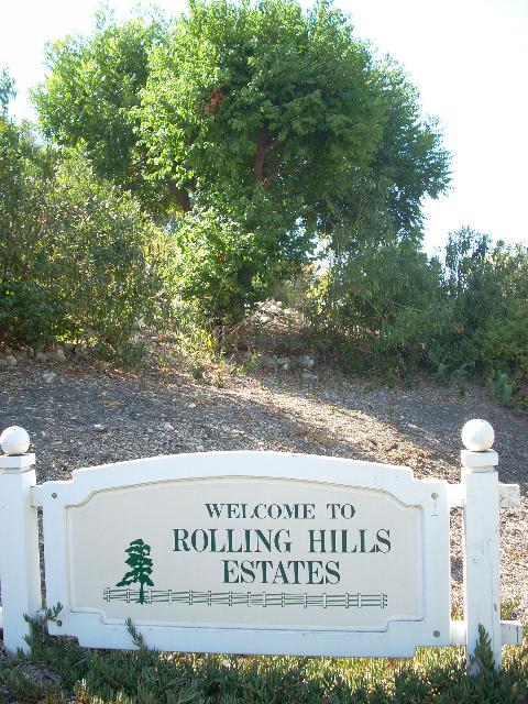 Rolling Hills Estates city sign