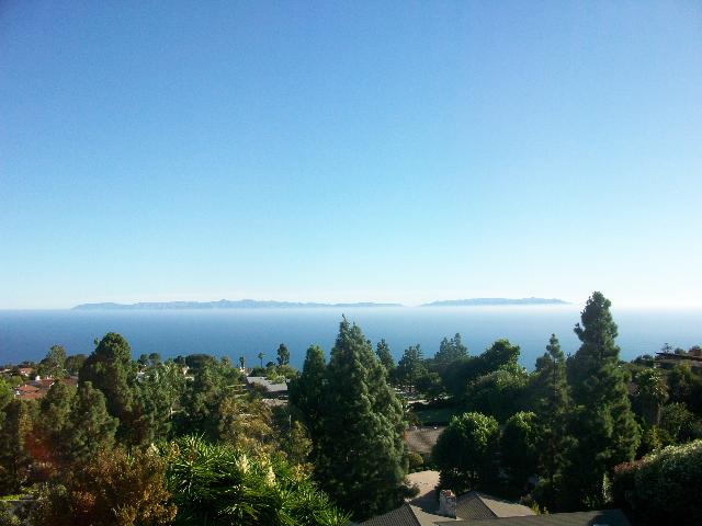 View of Catalina Island from Rancho Palos Verdes