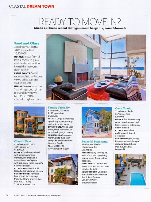 3130 Hermosa in Coastal Living Magazine