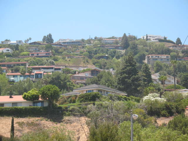 Hilltop homes in Palos Verdes CA