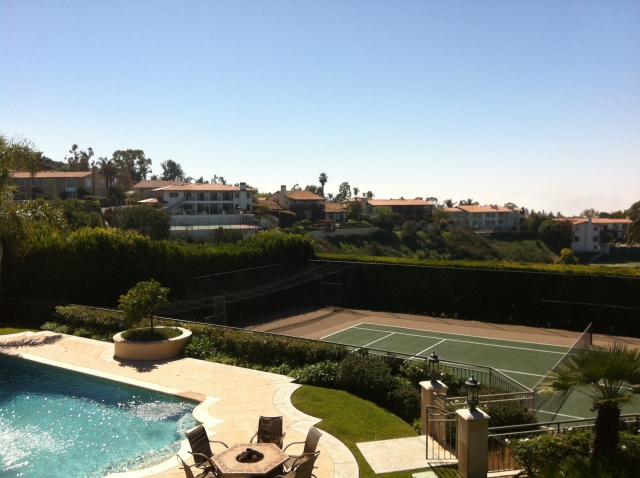 A tennis court in the Monte Malaga area of Palos Verdes Estates.