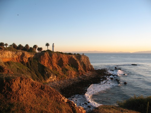 The Palos Verdes Lighthouse - Sunset, from the trails by Oceanfront