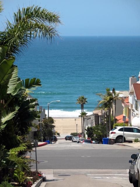 Pacific Ocean down the street in Manhattan Beach