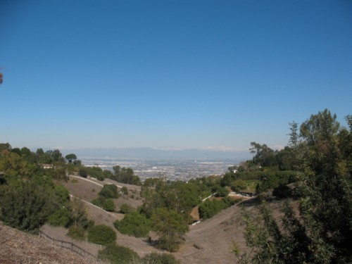 Rolling Hills in Palos Verdes - View of Los Angeles