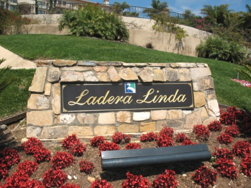 The Ladera Linda sign in Palos Verdes