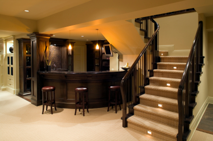 Bar in a luxury home