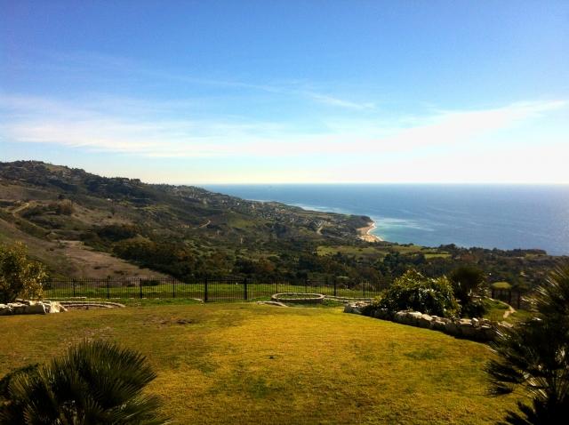View of the Palos Verdes coastline