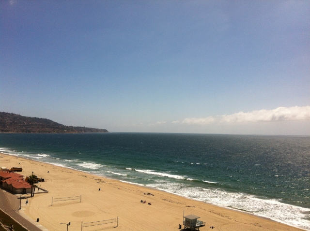 Redondo Beach view of the water and Palos Verdes