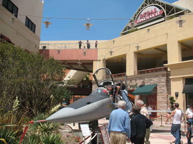 PV Street Fair - Fighter jet parked in the mall