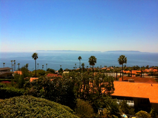 Rooftops and Catalina - as seen from the Crest area of Palos Verdes