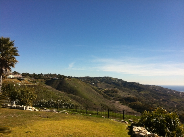 Top of the crest view in the La Cresta area of Palos Verdes