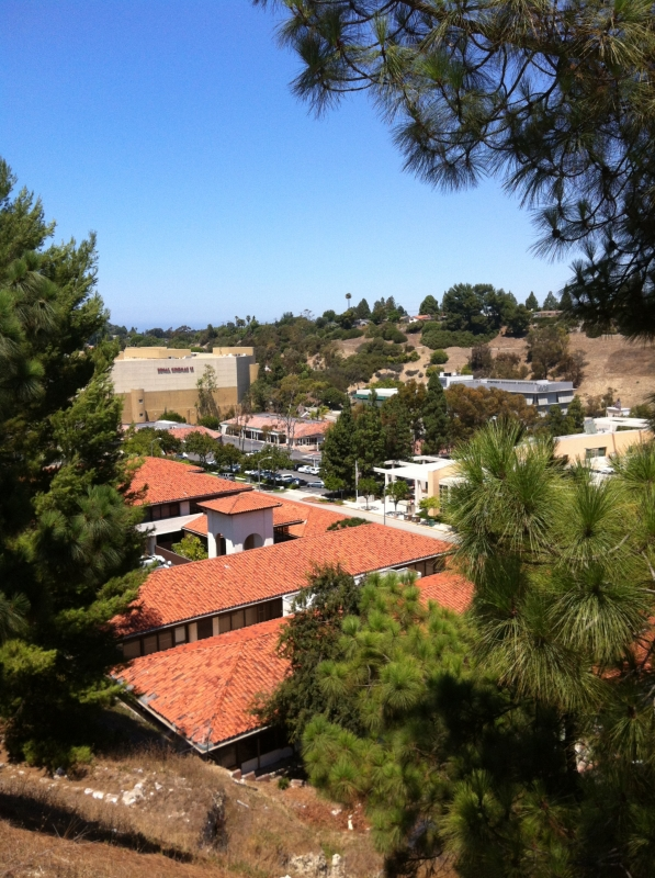 View above Pen Center in Palos Verdes