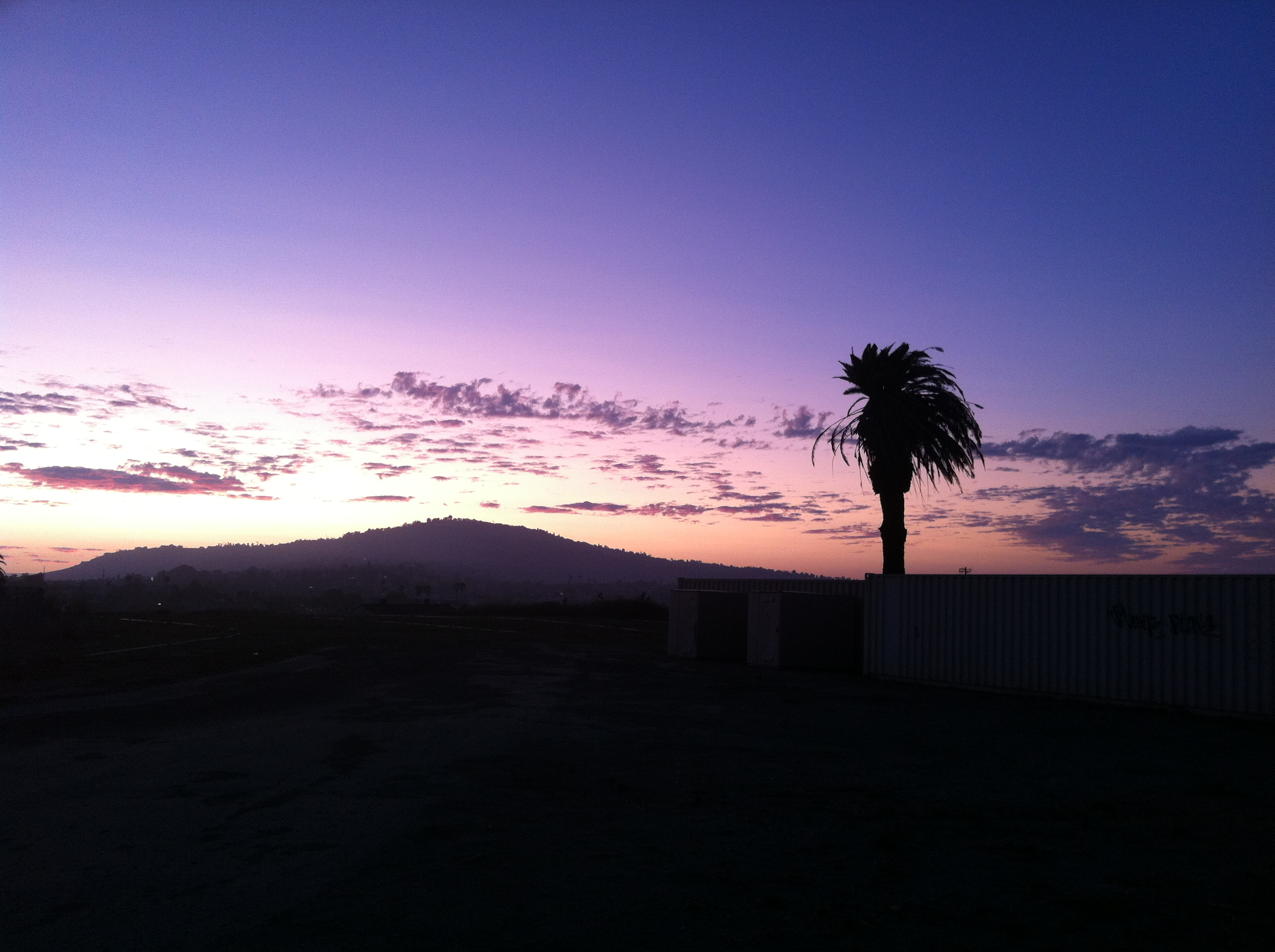 View of PV hill at sunset