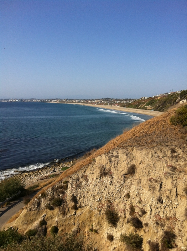 View of the coast from Malaga Cove