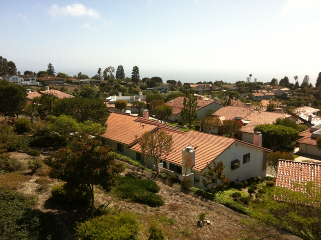 Palos Verdes homes overlooking the Pacific