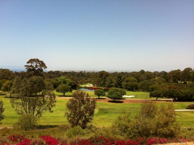 The golf course in Palos Verdes Estates
