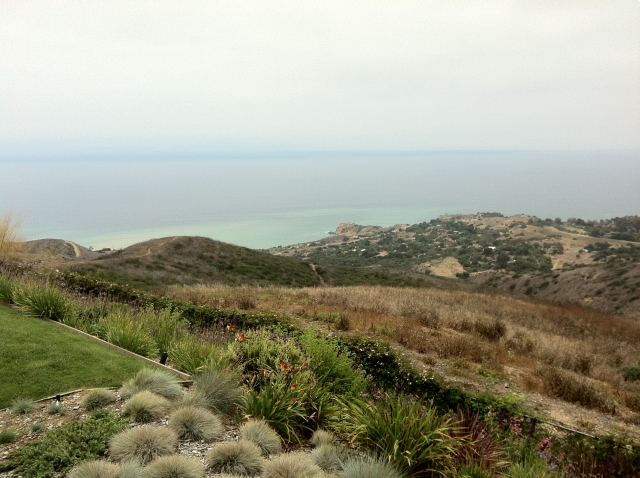 The Palos Verdes coast from Rolling Hills.