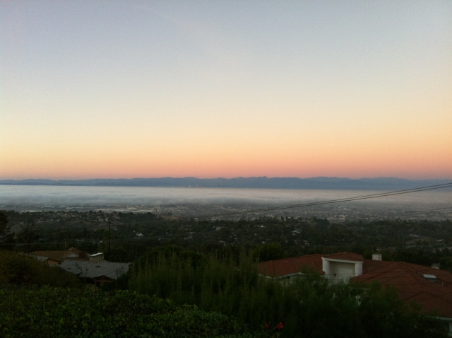 Mustang Road in Palos Verdes - sunset view