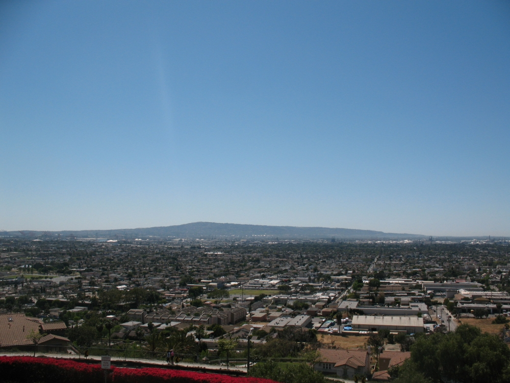 Overlooking the inland harbor area & Wilmington - from Signal Hill