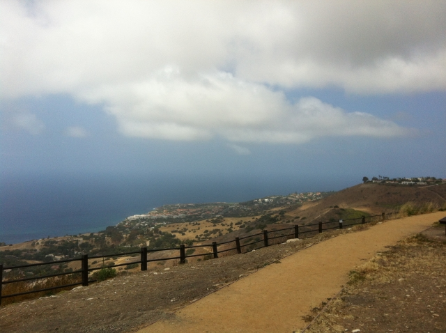 View from Del Cerro park in Palos Verdes.