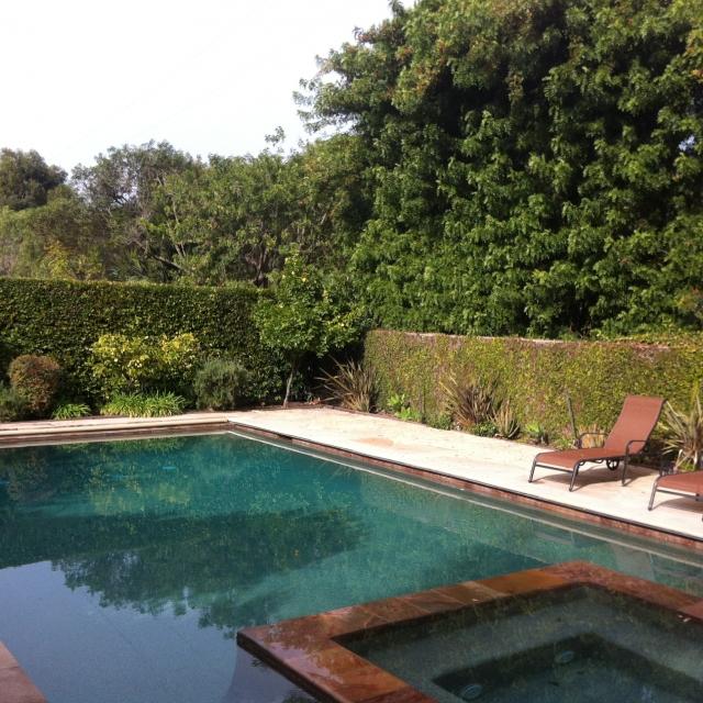 Luxury pool in Rolling Hills Estates