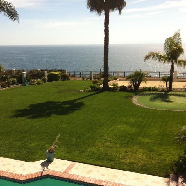 Backyard of Luxury Home in Rancho Palos Verdes