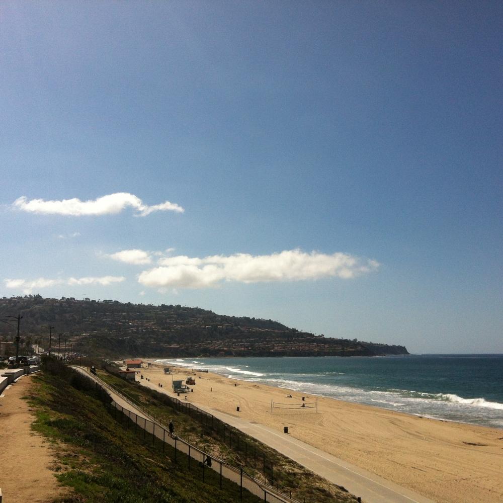 Redondo Beach - View from the upper beach walkway