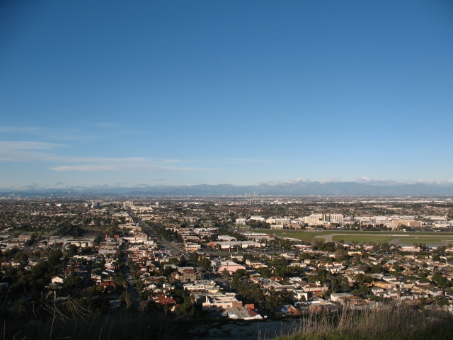 Overlooking the South Bay from the Valmonte neighborhood in Palos Verdes