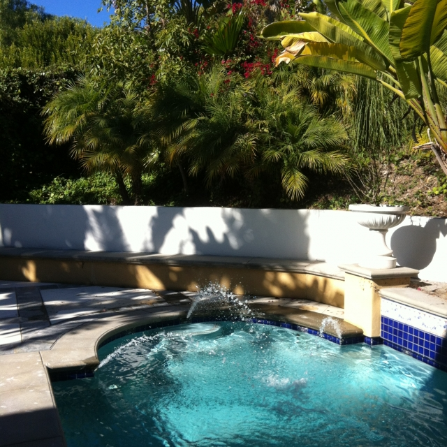 Backyard in the Country Club area of Palos Verdes California