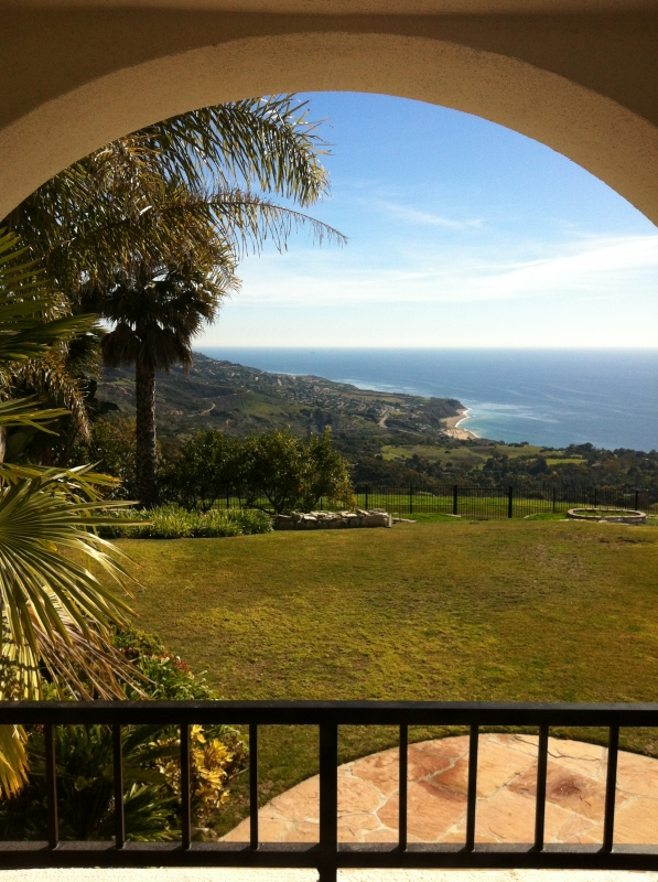 Lovely coastline view from a home in the La Cresta neighborhood.