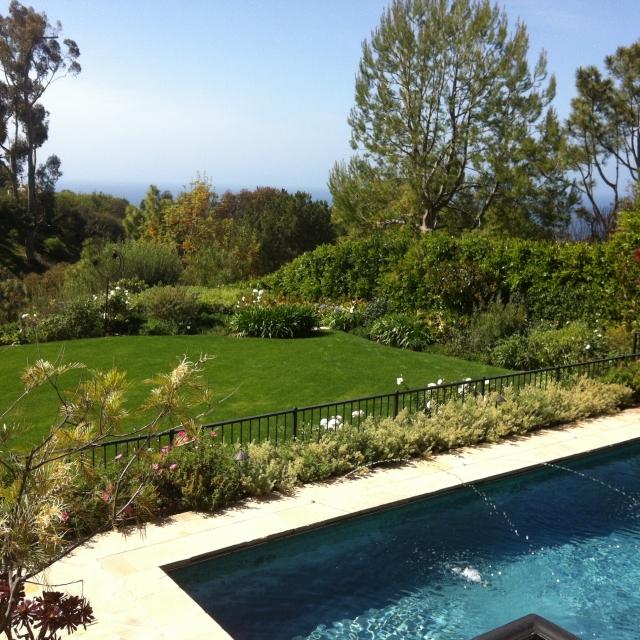 Luxury back yard in Palos Verdes Estates CA