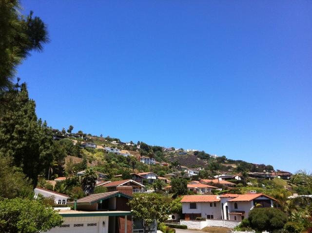 Hillside homes in Rancho Palos Verdes.