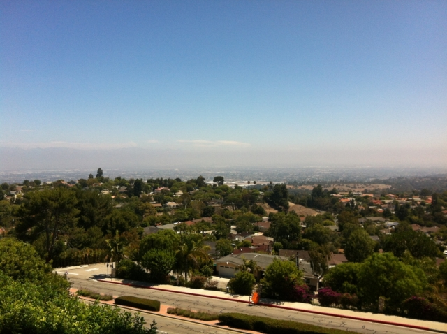 View of the city from the Silver Spur neighborhood in Palos Verdes