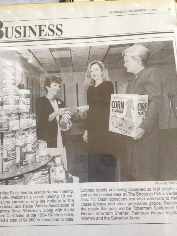 Cantree Food drive 1994