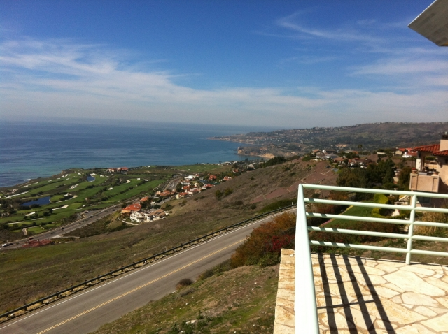 A knock out Mira Catalina neighborhood view, overlooking the Pacific and Palos Verdes coast.