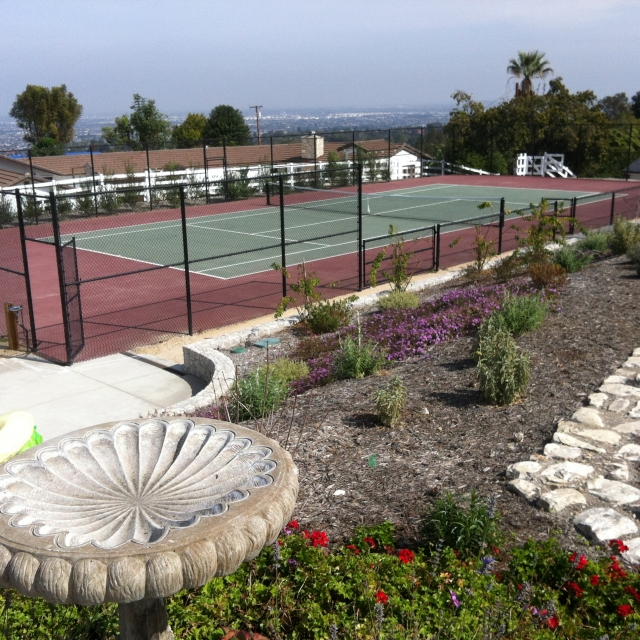 Home with its own tennis court in Rolling Hills CA