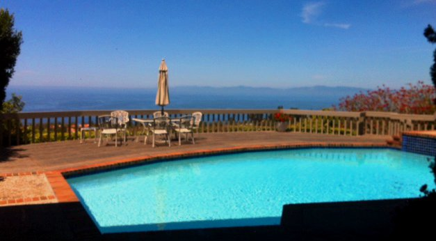 Backyard pool in the Crest neighborhood of Palos Verdes