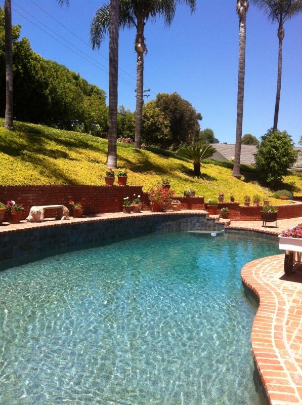 Backyard pool in Rolling Hill CA