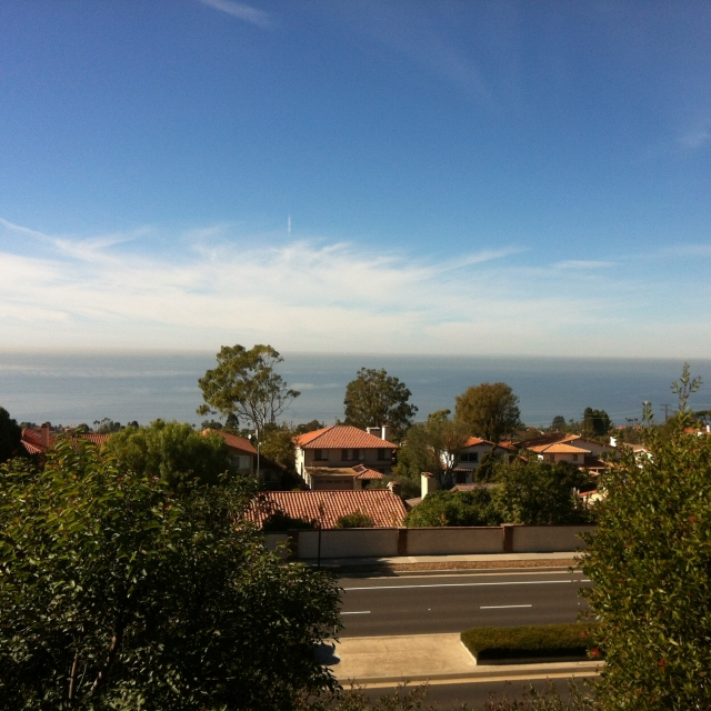 Homes overlooking the Pacific in Palos Verdes CA