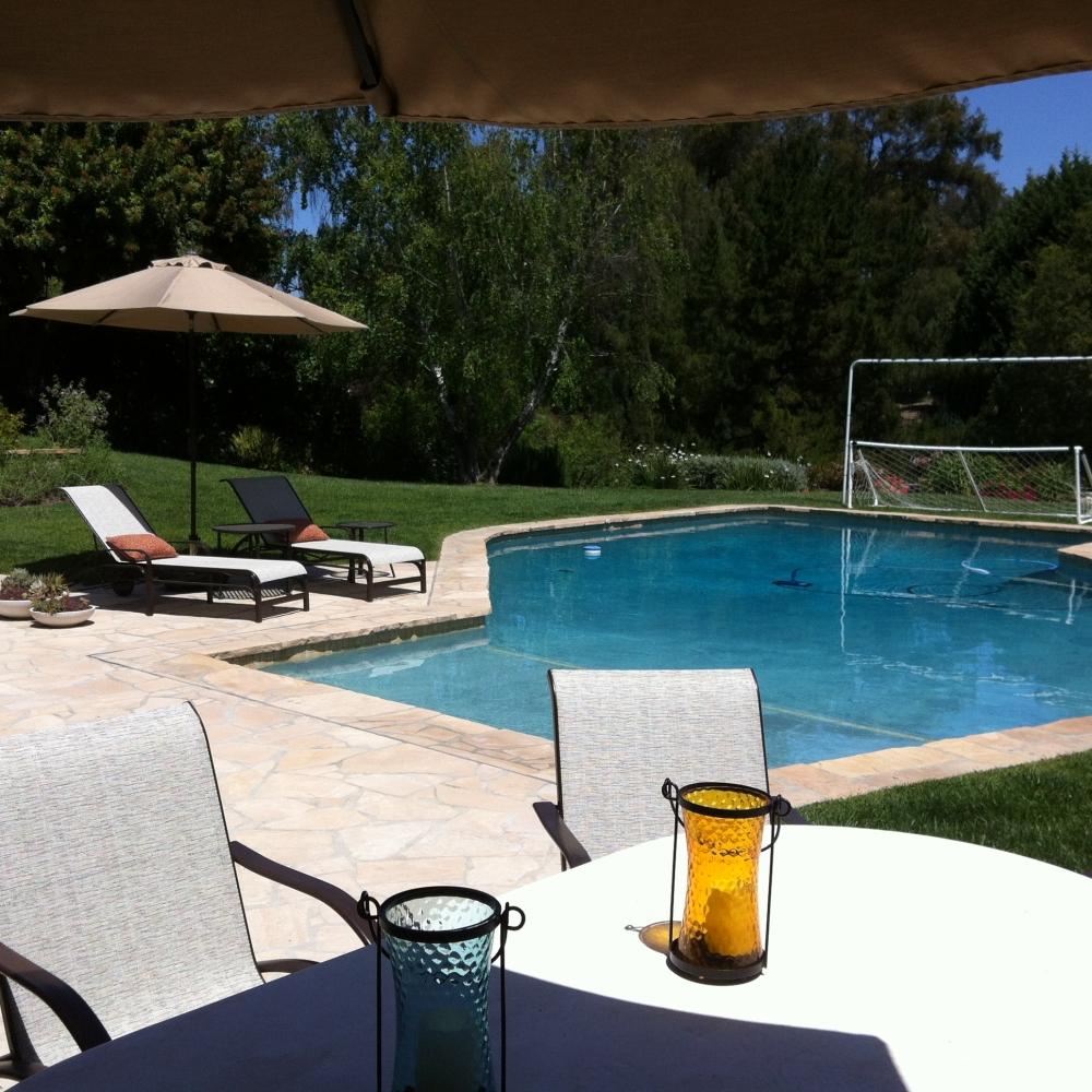 Backyard in Rolling Hills Estates CA