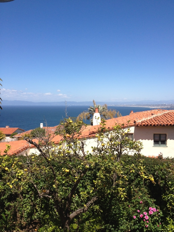 Red tile roofed homes in Palos Verdes Estates