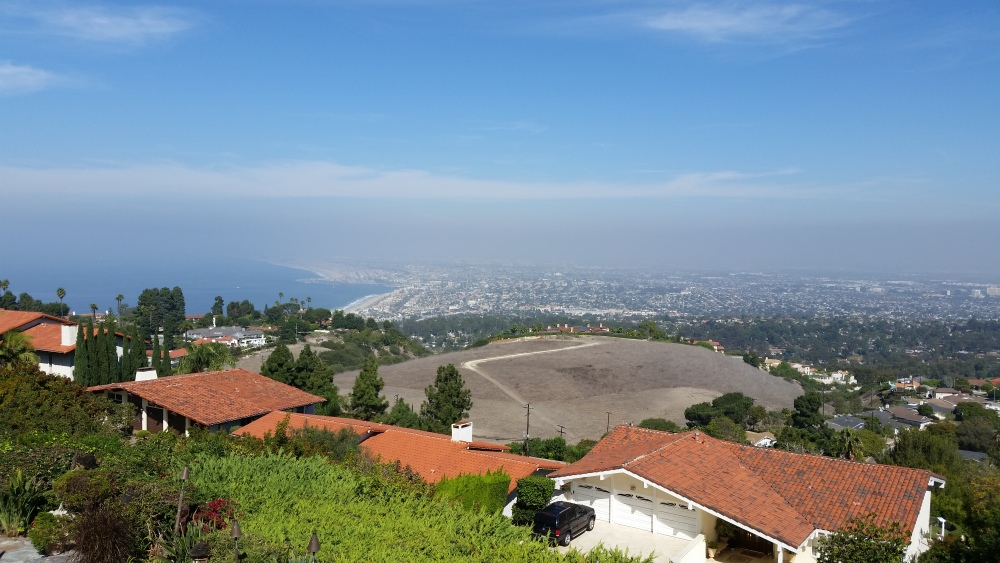 Coastal view from the Silver Spur neighborhood in Palos Verdes
