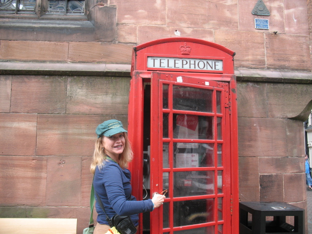 Famous Red Phone Booth!